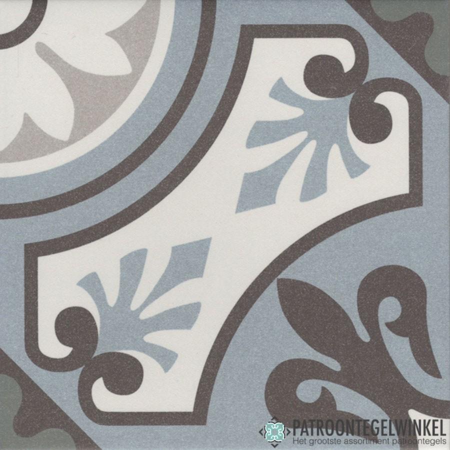 Keramische Patroontegel Lilou Bleu | Patroontegelwinkel.nl