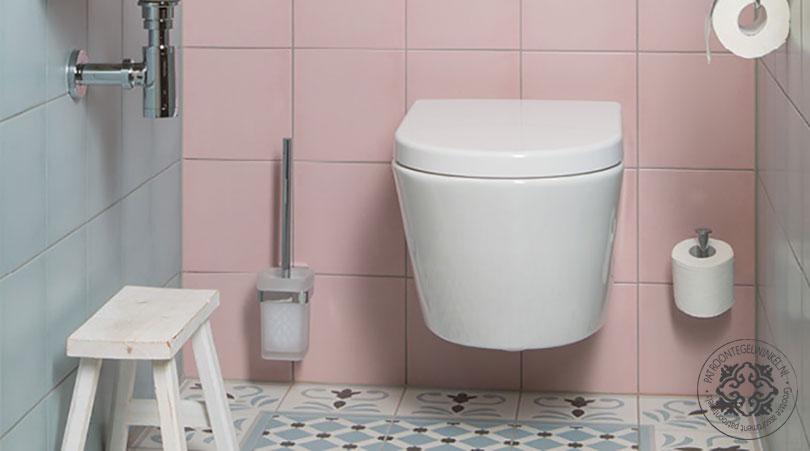 Rosa Celeste Palau Toilet | Patroontegelwinkel.nl