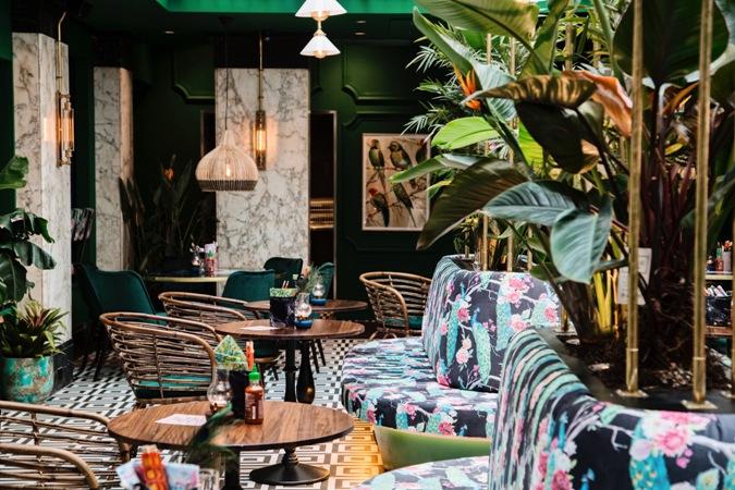 Patroontegels Inspiratie Grafisch : The streetfoodclub: een exotisch interieur in combinatie met onze