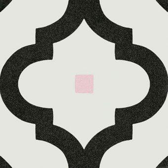 Keramische patroontegel Arabesque Graphite | Retrotegelwinkel.nl