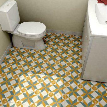 Revival Pattern Toilet   retrotegelwinkel.nl
